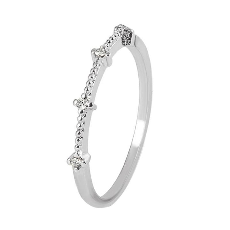Silver Ring With Diamantes 1