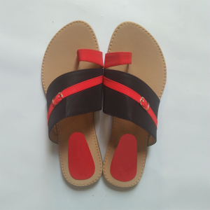 Slipper for women blackred 1