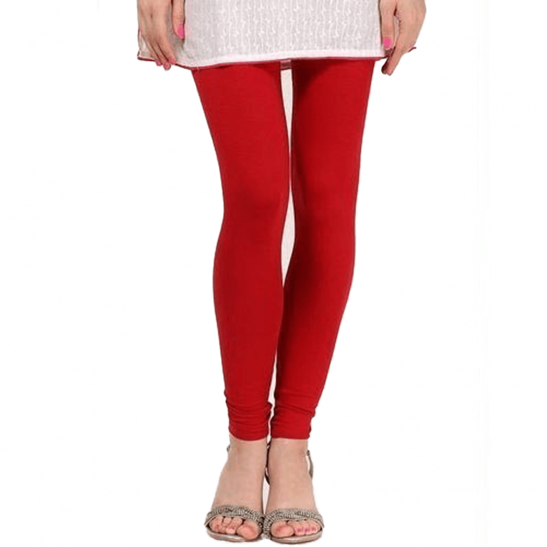 Red Stretchable Leggings Lycra Tights