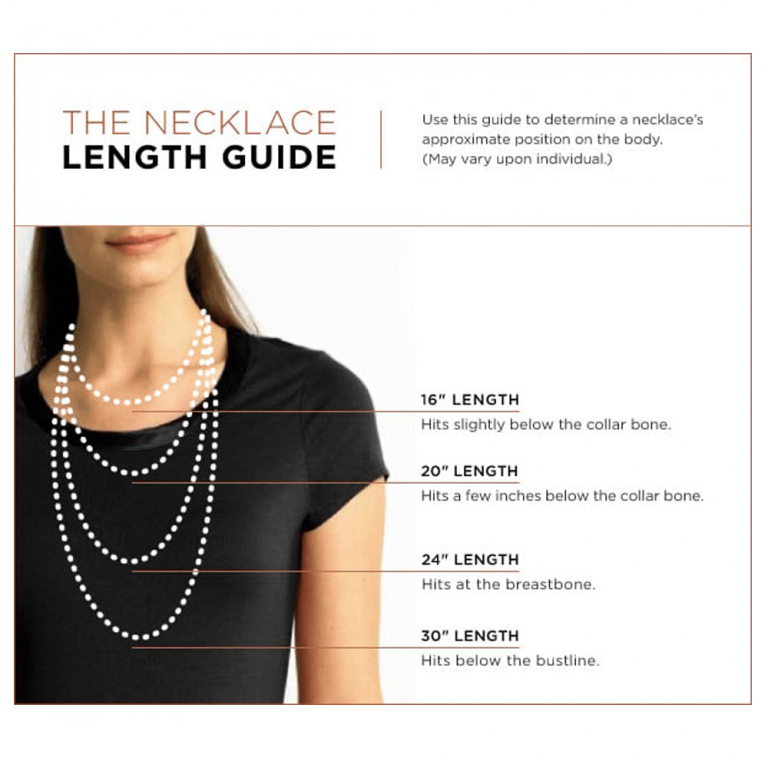 necklace size guide