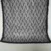 Net Dupatta With 4 Sided Lace - Black - Length 2.25 Yards Width 30 Inches