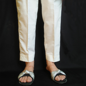 Plain Trouser Pant For Women Pure Cotton off-White