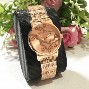 Bvlgari Rose Gold Chain Strap Watch for Women