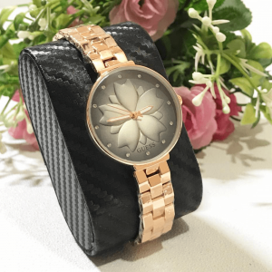 Guess Rose Gold Black Chain Strap Watch for Women