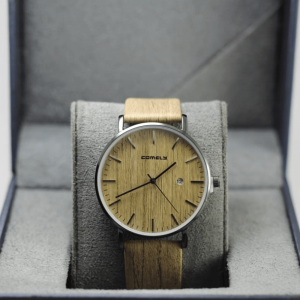 Comely Nude Wooden style with Leather Strap Watch
