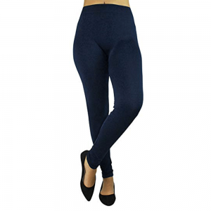 Navy Stretchable Leggings Lycra Tights - Free Size
