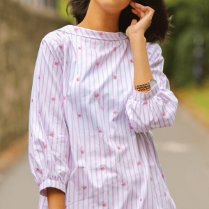 Floral Printed - Cotton Shirt For Women