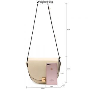 Beige Cross Body Shoulder Bag