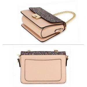 Multi Glitter Flap Cross Body Bag