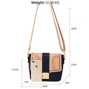 Navy Pink Cross Body Shoulder Bag
