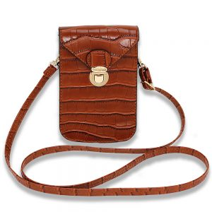 Croc Print Cross Body Shoulder Bag