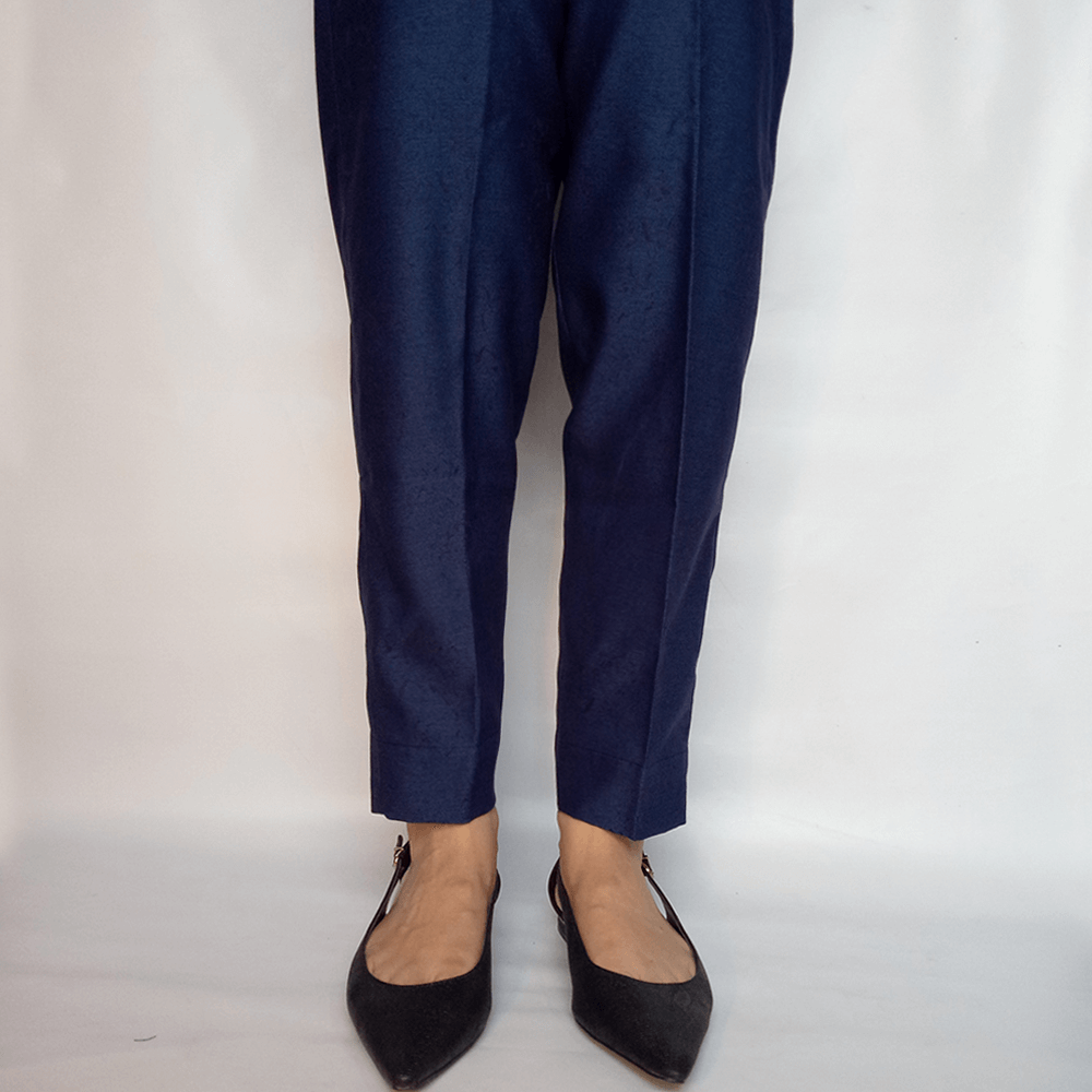 Denim Trouser Pant For Women Navy Blue Soft
