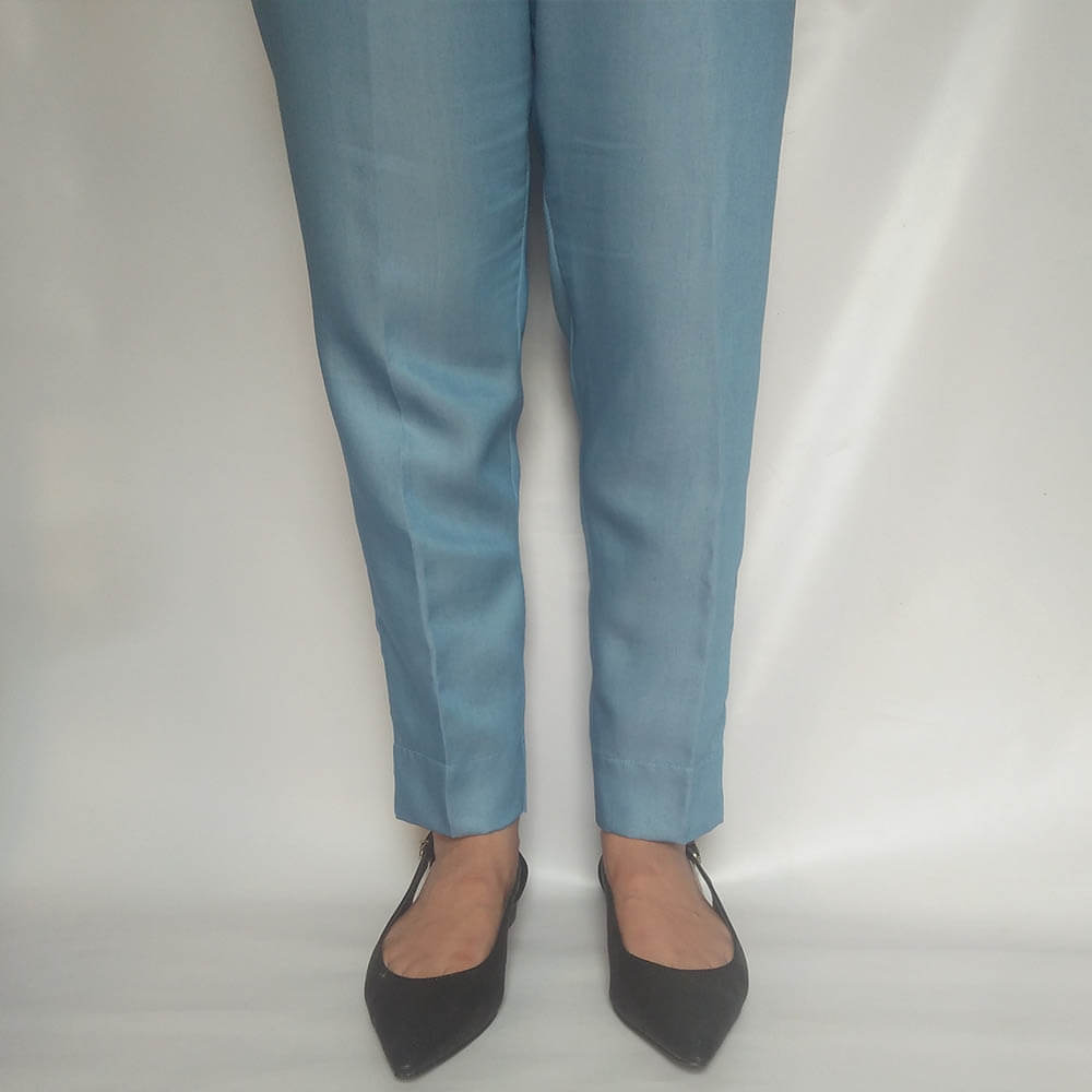 Denim Trouser Pant For Women Light Blue Soft