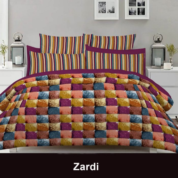 PieceDouble Bedsheet With 2 Pillowcases Multi