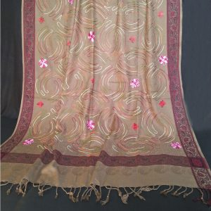 ZSH42 Embroided - Winter Warm Wool Shawl For Women Ladies - Large 2.5 yards