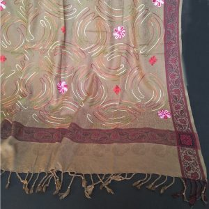 ZSH42 Embroided - Winter Warm Woolen Shawl For Women Ladies - Large 2.5 yards
