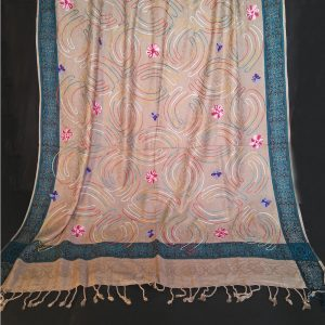 ZSH43 Embroided - Winter Warm Woolen Shawl For Women Ladies - Large 2.5 yards-