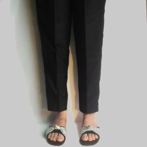 Khaddar Winter Warm Trouser Pant For Women Ladies Black