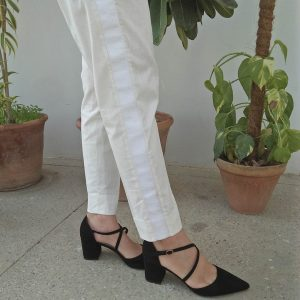 Ladies Trouser Pant With Side full Lace Design