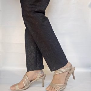 Chikan trouser Pant For Ladies Women Soft Cotton