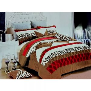 F04 Flannel Double King Size Bedsheet With 2 Pillowcases