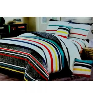 F06 Flannel Double King Size Bedsheet With 2 Pillowcases