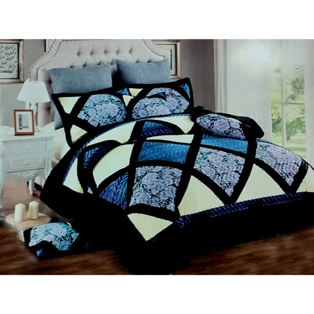 F07 Flannel Double King Size Bedsheet With 2 Pillowcases