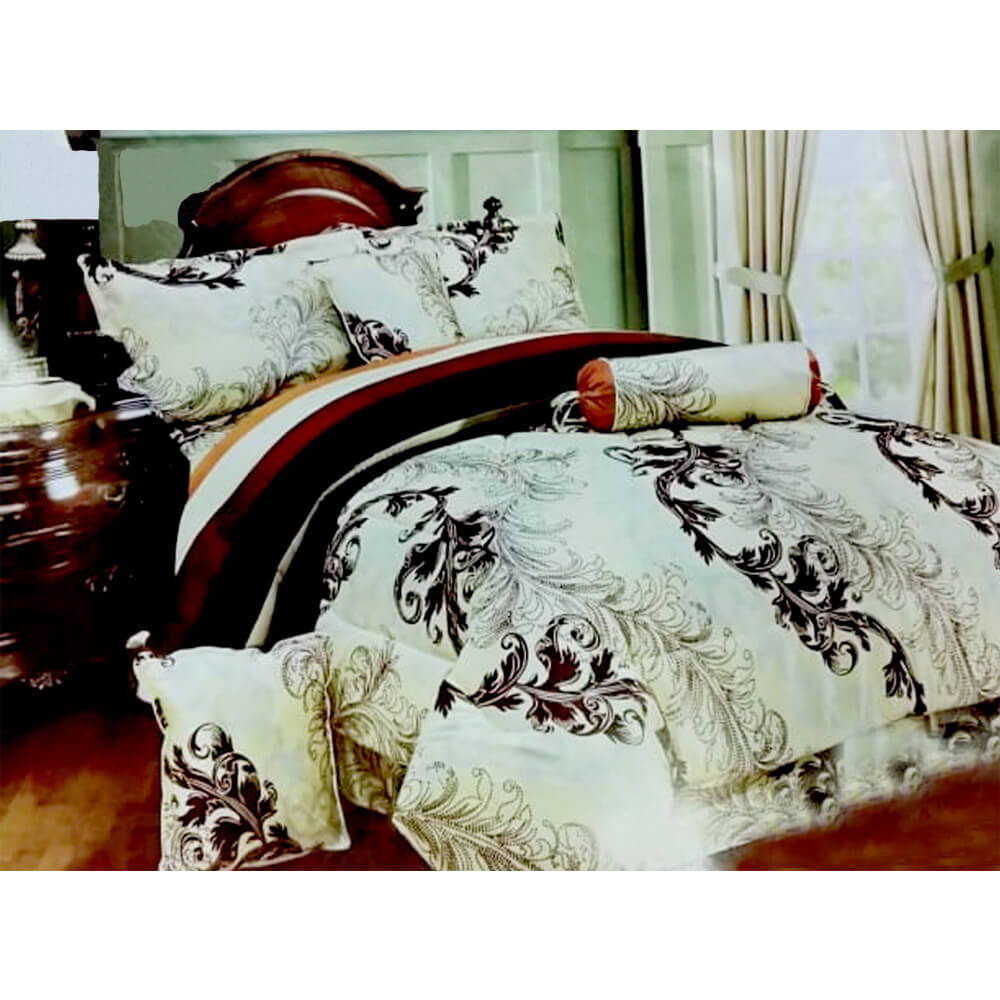 F08 Flannel Double King Size Bedsheet With 2 Pillowcases