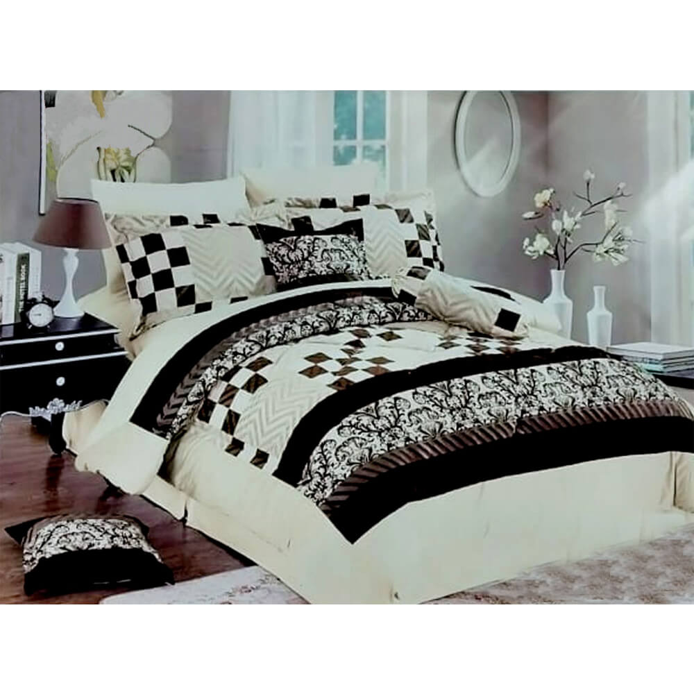 F09 Flannel Double King Size Bedsheet With 2 Pillowcases