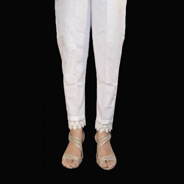 Cotton Trouser Pant For Women Ladies With Bottom Lace