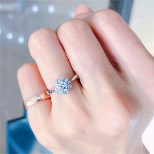 Sterling Silver Floral Chandi Ring For Women