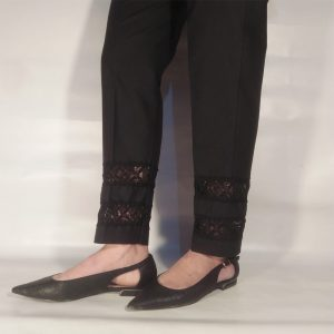 Laces Design Trouser Pants For Women