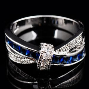 Sterling Silver Chandi Ring For Women With Diamantes