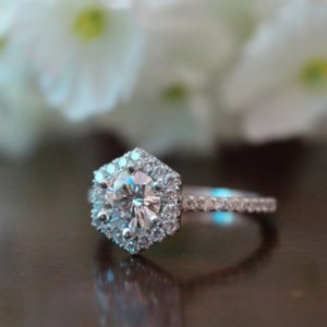 Floral Ring For Women With Diamantes AAA Zircon Quality