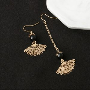 Drop Earrings For Women - BlackGold - AE113