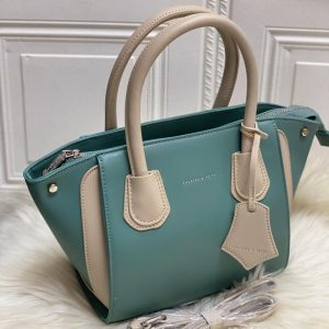 High Quality CHARLES & KEITH Bag with Brand Dust Bag & Long strap - Aqua