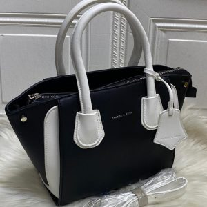 High Quality CHARLES & KEITH Bag with Brand Dust Bag & Long strap - Black