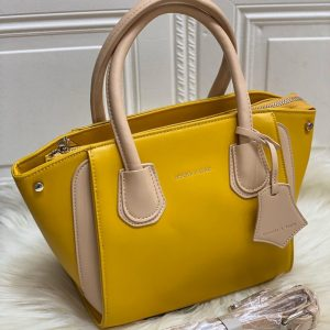 High Quality CHARLES & KEITH Bag with Brand Dust Bag & Long strap - Ochre