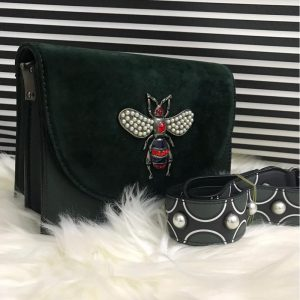 High Quality Cross Body Bee Bags With Stylish Long Strap - Green