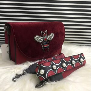 High Quality Cross Body Bee Bags With Stylish Long Strap - Mahroon