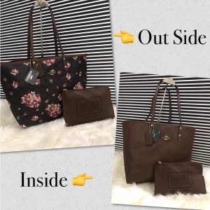Quality Coach 2 sided Bag With Pouch Chocolate