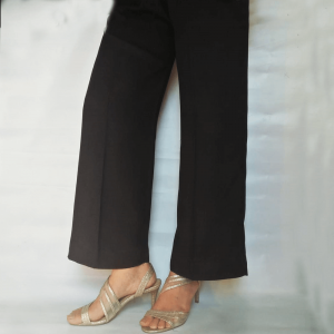 Linen Plazzo Trouser Soft All Season For Women Black