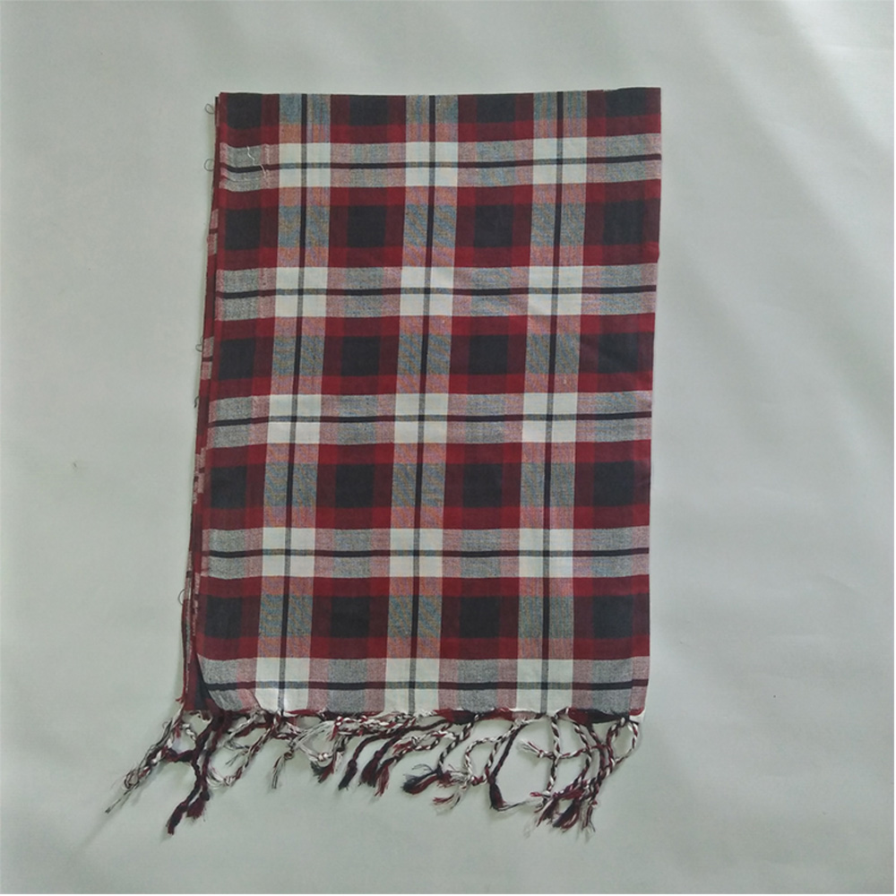 Check-Print-Scarfs-For-Women-Maroon