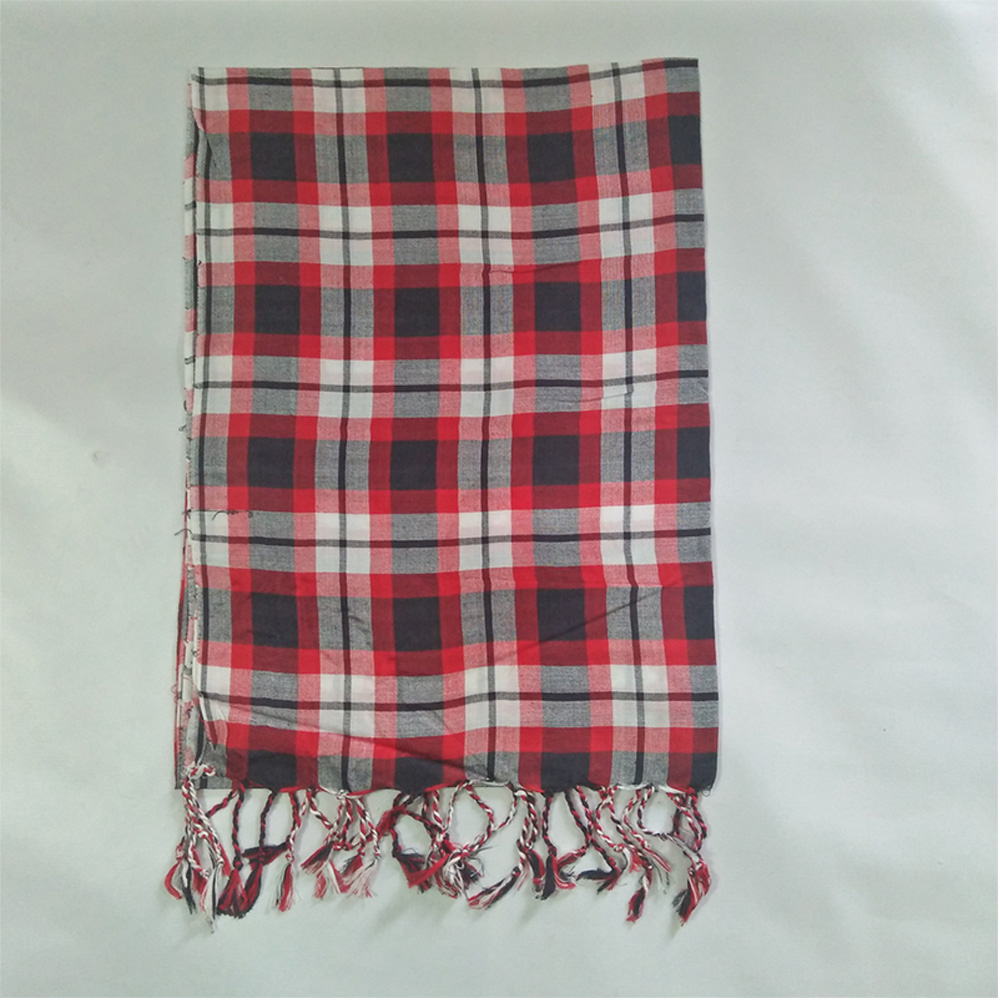 Check-Print-Scarfs-For-Women-Red