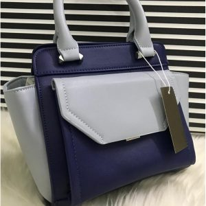 High Quality Leather Women Handbag With Tote - Navy Light blue