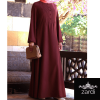 Front Buttons and Pleats Abaya with Elasticated Sleeves