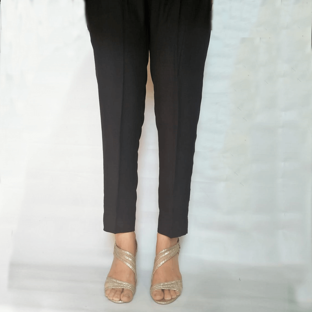 Black Linen Trouser Pant - Soft - All Season - For Women