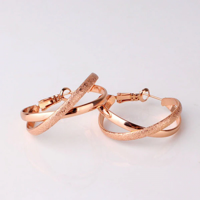 Gold Plated - AAA Zircon - Earring - For Women Ladies - Rose Gold