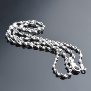 Silver Plated Chain Necklace For Women - Silver