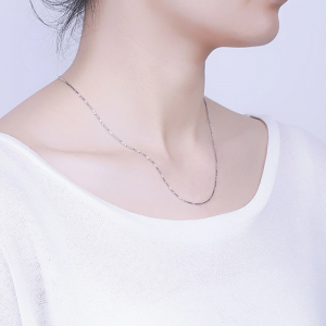 Sterling Silver - Chandi - Chain Necklace For Women Ladies - Silver